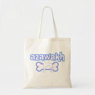Pink & Blue Azawakh Tote Bag