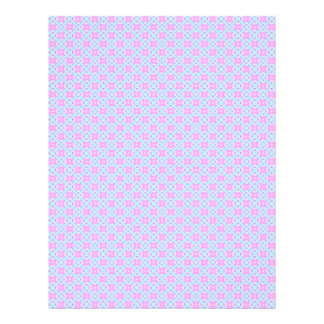 Pink & Blue Baby Plaid Scrapbook Craft Paper Pages
