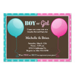 Pink Blue Balloon Gender Reveal Party Invitation