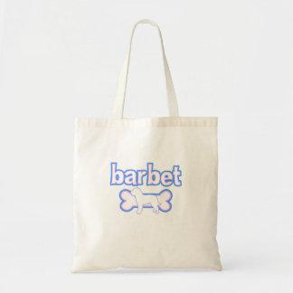 Pink & Blue Barbet Tote Bag