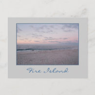 'Pink & Blue Beach at Dawn' Postcard
