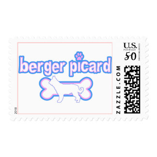 Pink & Blue Berger Picard Postage Stamps