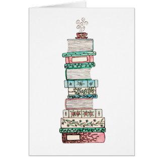 Pink & Blue Bookstack Card