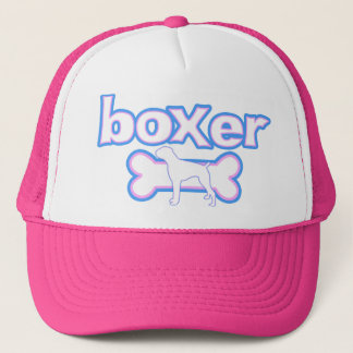 Pink & Blue Boxer Trucker Hat