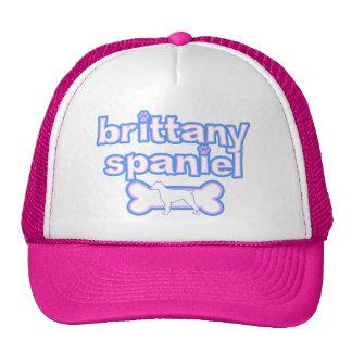 Pink & Blue Brittany Spaniel Trucker Hat