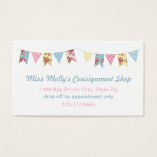 pink u0026amp blue bunting consignment store daycare business card