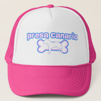 Pink & Blue Canary Dog Trucker Hat