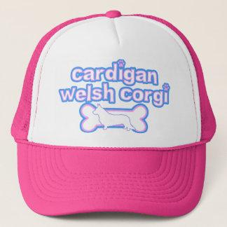 Pink & Blue Cardigan Welsh Corgi Trucker Hat