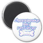 Pink & Blue Chesapeake Bay Retriever Magnets