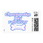 Pink & Blue Chesapeake Bay Retriever Stamps