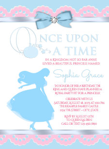 cinderella birthday invitations zazzle