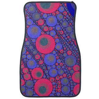 Pink Blue Circle Abstract Car Floor Mat