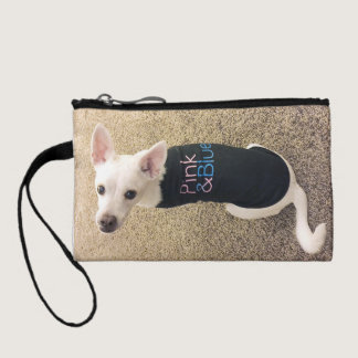 Pink & Blue coin purse w/ ScaryFace dog