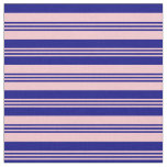 [ Thumbnail: Pink & Blue Colored Pattern of Stripes Fabric ]