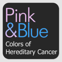 Pink & Blue: Colors of Hereditary Cancer Stickers