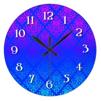 Pink/ Blue  Damask Wall Clocks