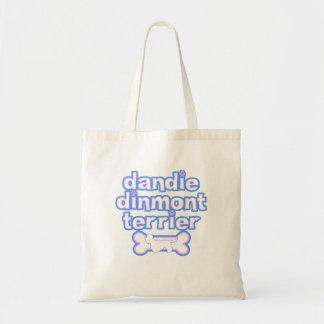 Pink & Blue Dandie Dinmont Terrier Budget Tote Bag