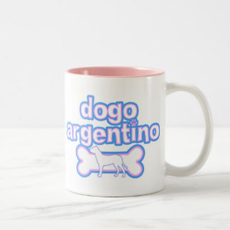 Pink & Blue Dogo Argentino Mug