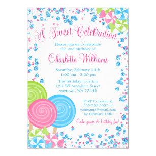 candy invitations zazzle