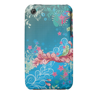 Pink & Blue Floral iPhone 3 Cover