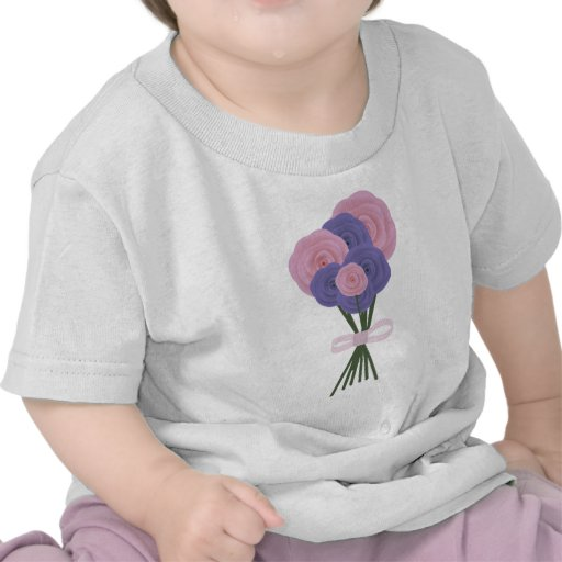 Pink & Blue Flowers Tshirt