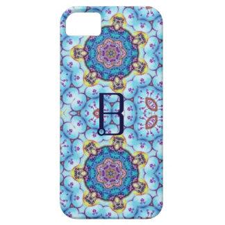 PINK BLUE FRACTAL CIRCLES MONOGRAM iPhone SE/5/5s CASE