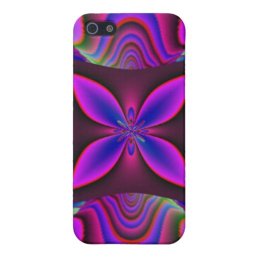 Pink Blue Fractal Design Speck Case Covers For iPhone 5