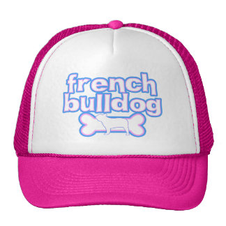 Pink & Blue French Bulldog Hats