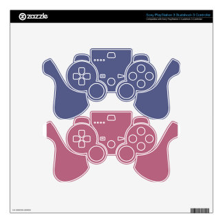 Pink & Blue Gaming Controller Skins PS3 Controller Decal