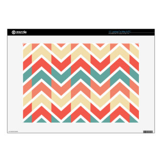 """Pink Blue Geometric Design Abstract Zigzag Pattern 15"""" Laptop Decals"""