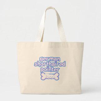 Pink & Blue German Shorthaired Pointer Jumbo Tote Bag