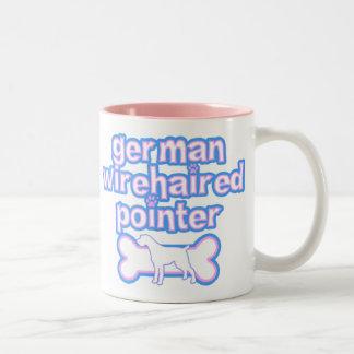 Pink & Blue German Wirehaired Pointer Mug