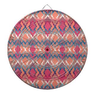 Pink Blue Gradient Geo Tribal Ikat Diamond Pattern Dart Boards