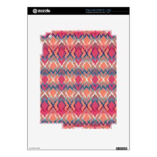 Pink Blue Gradient Geo Tribal Ikat Diamond Pattern Decal For iPad 2