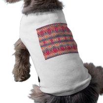 Pink Blue Gradient Geo Tribal Ikat Diamond Pattern Shirt