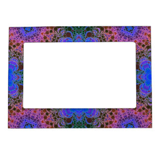 Pink Blue Green Abstract Magnetic Picture Frame