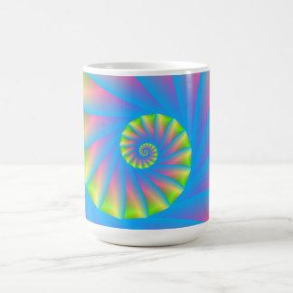 Pink Blue Green Spiral Mug