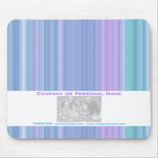 Pink blue green stripes business mouse pad