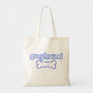 Pink & Blue Greyhound Tote Bag