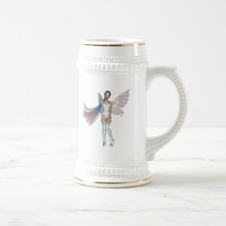 Pink & Blue Hair Pixie In White Coffee Mugs