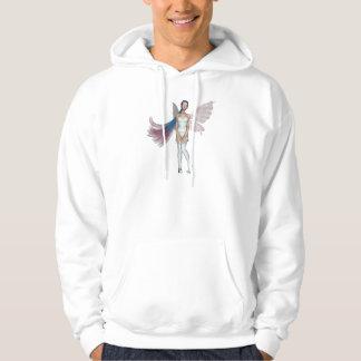 Pink & Blue Hair Pixie In White Sweatshirt