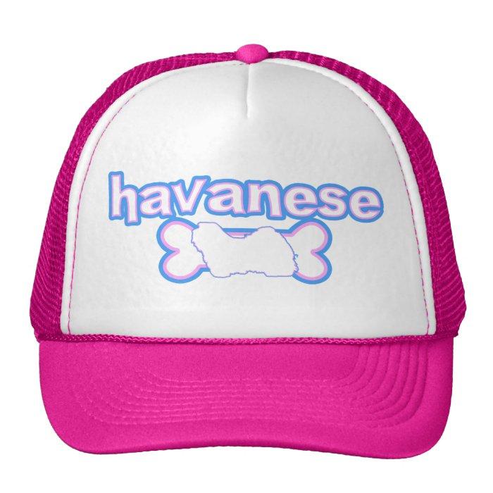 Pink & Blue Havanese Trucker Hat