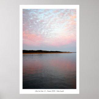 pink & blue, Hilton Head Island, SC - November ... Poster