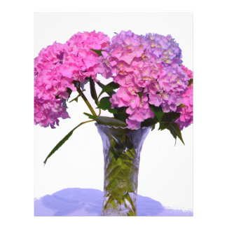 Pink & Blue  Hydrangeas Letterhead