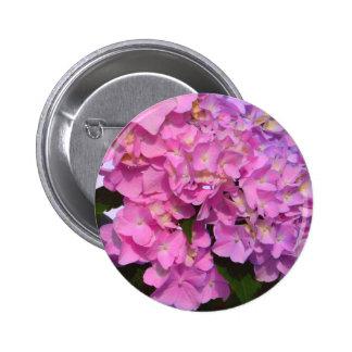 Pink & Blue  Hydrangeas Pinback Button