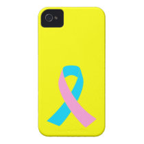 Pink & Blue - Infertility Awareness Ribbon Case-Mate iPhone 4 Case