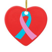 Pink & Blue - Infertility Awareness Ribbon Ceramic Ornament