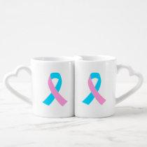 Pink & Blue - Infertility Awareness Ribbon Coffee Mug Set
