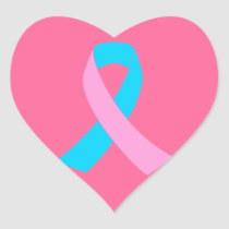 Pink & Blue - Infertility Awareness Ribbon Heart Sticker