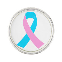 Pink & Blue - Infertility Awareness Ribbon Lapel Pin